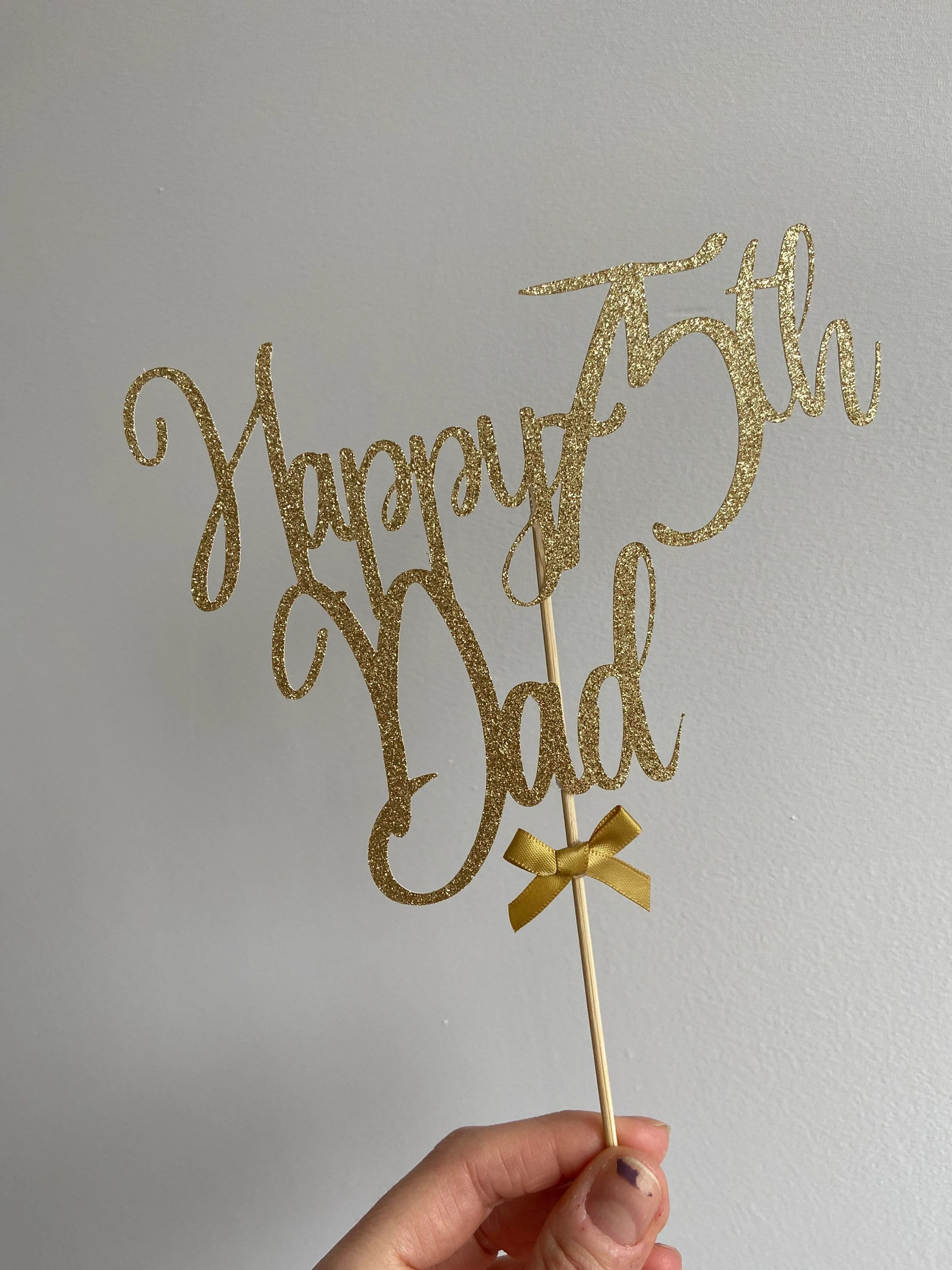Happy 75th Birthday Dad Cake Topper 75th Dad Cake Topper75th Etsy