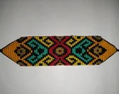 Geometric Eye Pattern Beaded Wrist Band