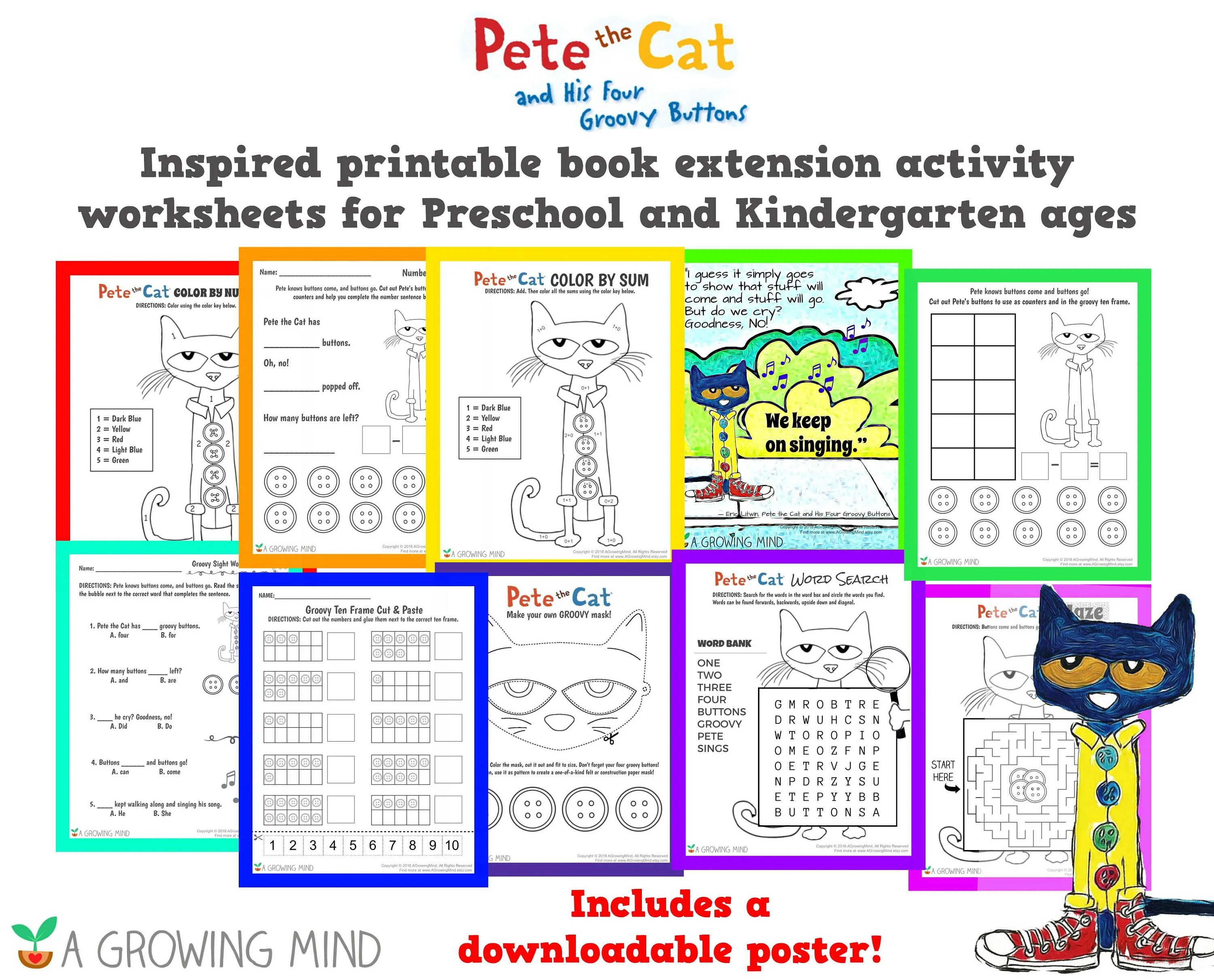 Pete The Cat And His Four Groovy Buttons Book Extension