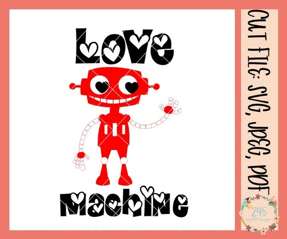 Download Love Machine SVG Valentines SVG Cute Valentine Clipart SVG ...