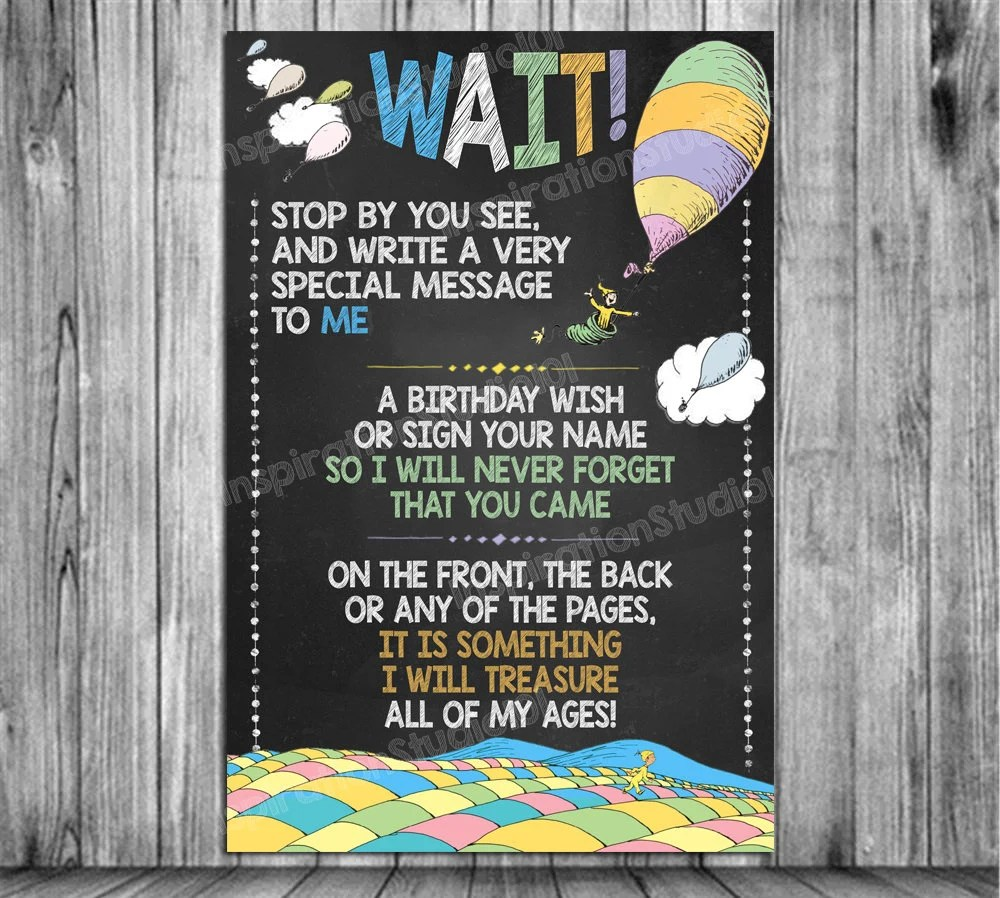 please leave a message sign oh the places you ll go birthday chalkboard poster sign banner board party decoration backdrop printable