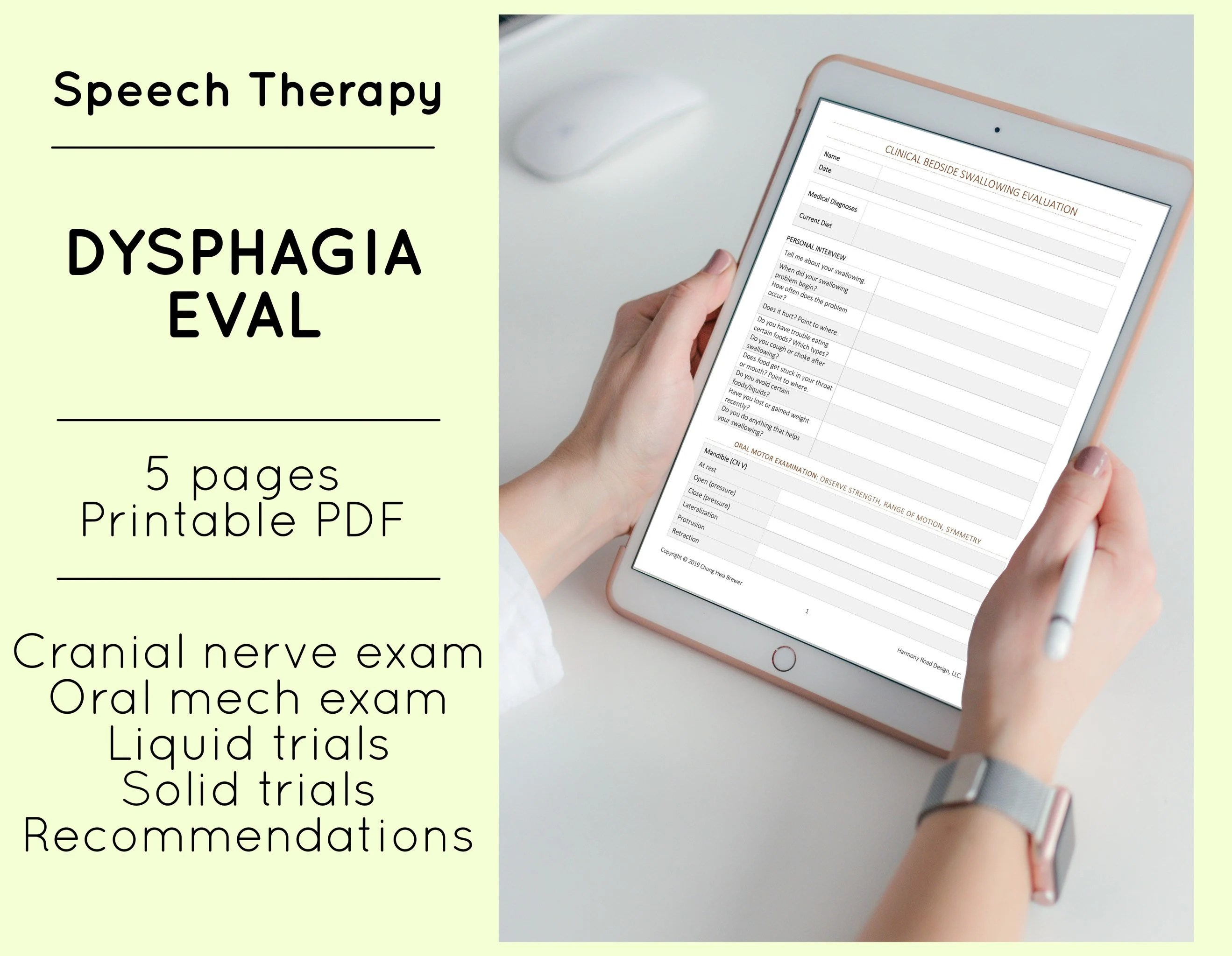 Virtual Speech Therapy Swallowing Evaluation Slp Eval