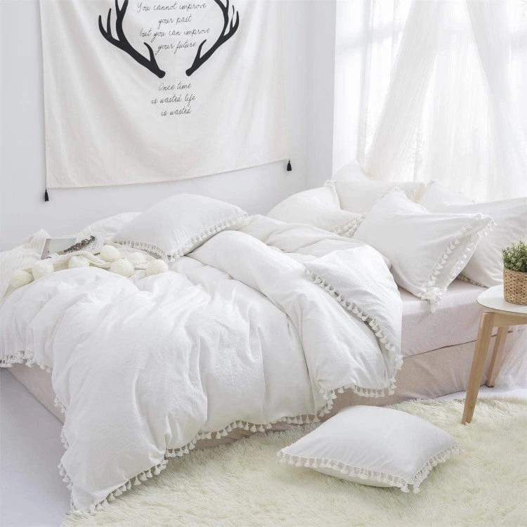 black white duvet etsy