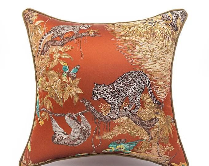 orange pillow moonfairyco