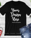 Fall Bella Canvas 3001 Black Unisex Women T Shirt Mock Up Etsy