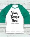 Green White Raglan Mockup Baseball Shirt Mock Up Raglan Tee Etsy