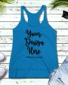 Blue Tank Top Mockup Next Level 6733 Digital Blank Racerback Etsy