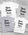 Matching Family T Shirts Mockup Unisex Women Youth Teen 4 Etsy