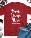 Fall Shirt Mock Up Gildan 64000 Red Tshirt Mockup Styled Etsy