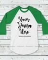 Green And White Raglan Mockup Baseball Shirt Mock Up Raglan Etsy