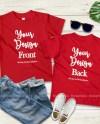 Kids Front Back Red Tshirt Mockup Toddler Back View Shirt Etsy