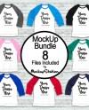 Bella Canva 3200 Raglan Mockup Bundle 8 Baseball Tee Shirt Etsy