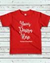 Kids Red Tshirt Mockup Children American Apparel 2105 Blank Etsy