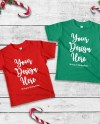 Matching Christmas Kids T Shirts Mockup Siblings Double Red Etsy
