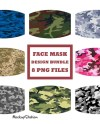 Camo Face Mask Designs Bundle Camouflage Face Cover Etsy