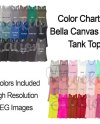 Color Chart For Bella Canvas 8800 Tank Top Template Digital Etsy
