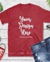 Gildan 64000 Cherry Red Blank Tshirt Mockup Styled T Shirt Etsy