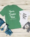 Bella Canvas 3001 100b Mommy And Me Heather Grass Green Tshirt Etsy