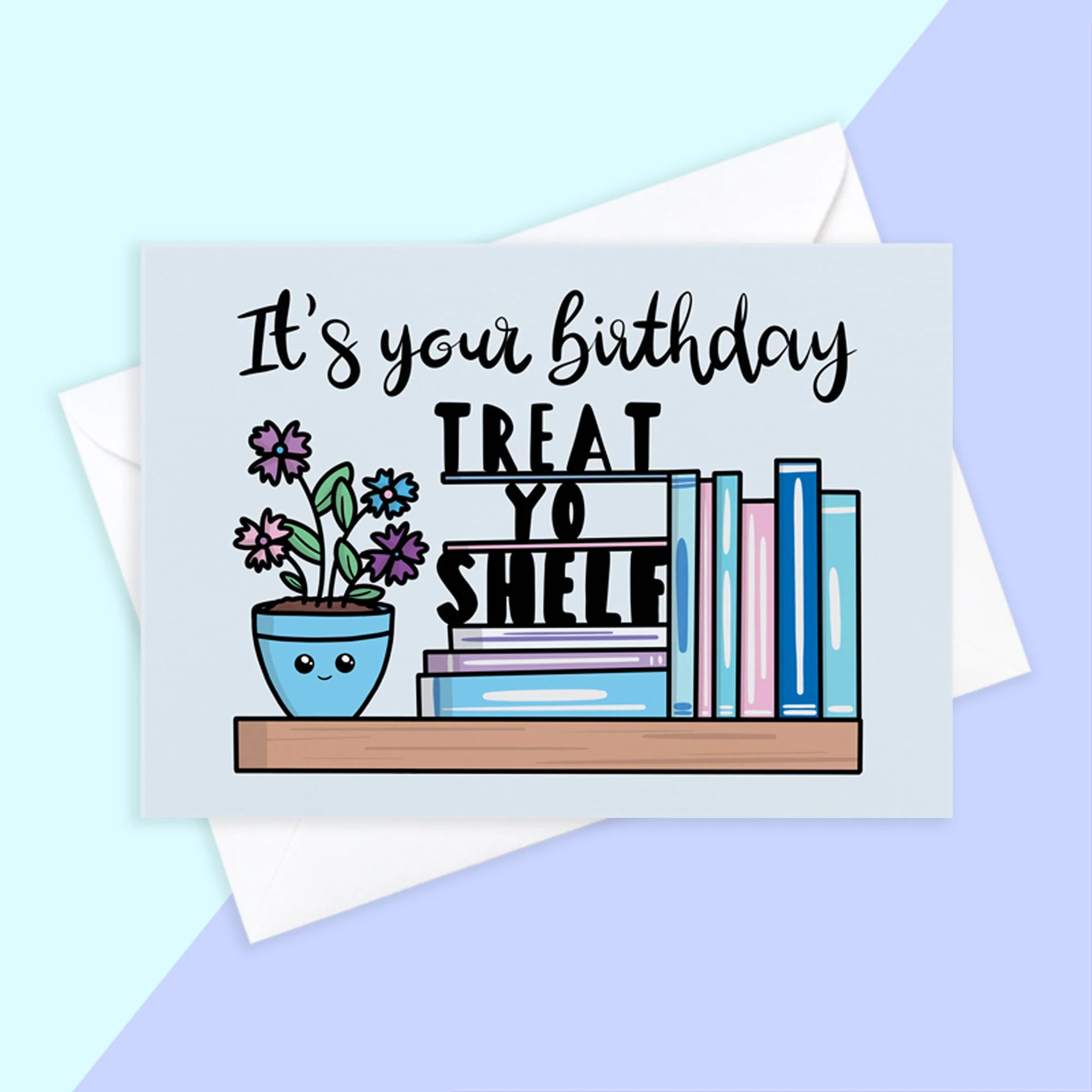 Book Lover Card Etsy