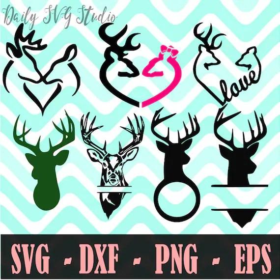 Download Deer Svg Bundle Deer Love SVG Country Cutfile Monogram | Etsy