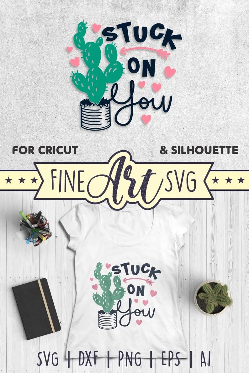 Download Stuck On You SVG File Cactus SVG I Love You SVG Cut File ...