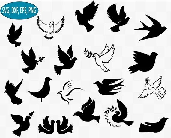 Download Dove SVG Bundle Doves svg Love birds svg dove silhouette ...