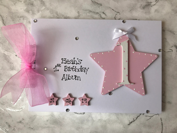 Personalised First Birthday Memory Scrapbook Photo Album Gift Etsy