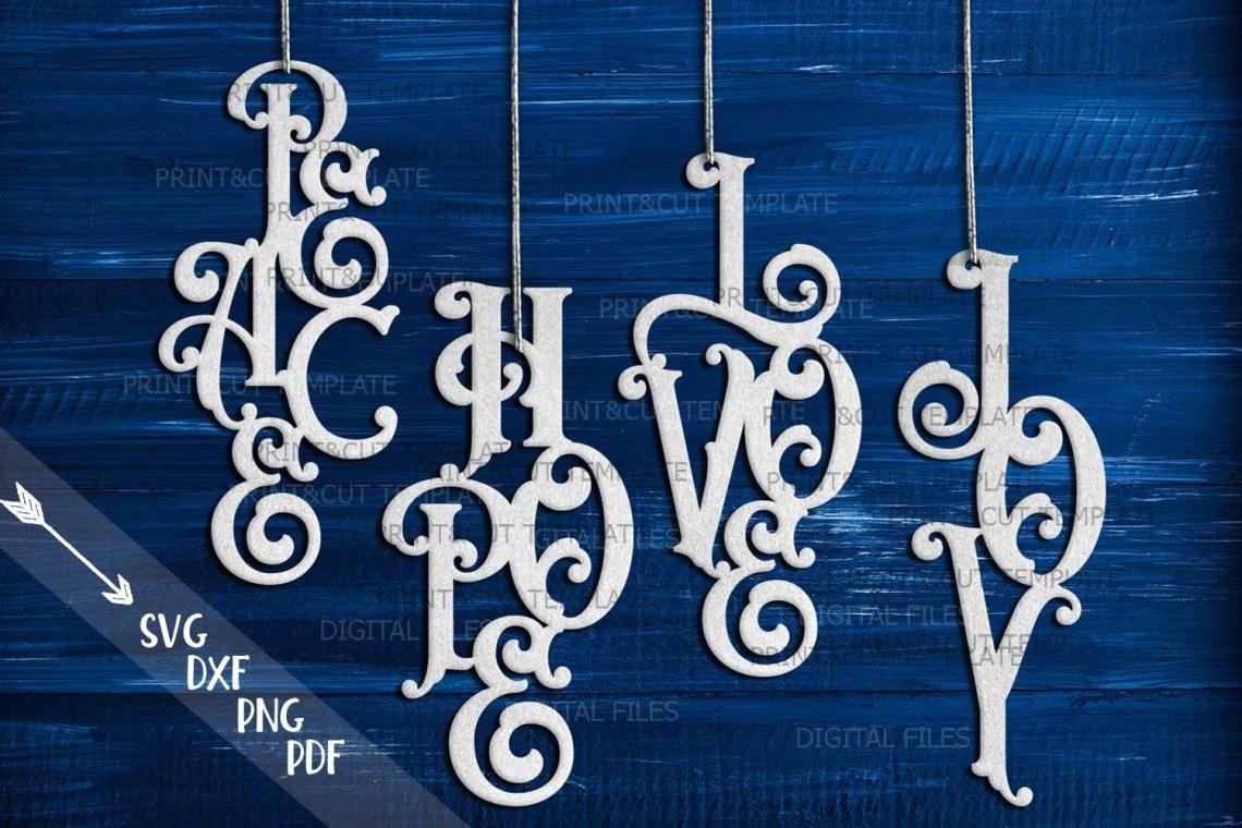 Download Christmas decorations svg Peace svg Love svg Hope Svg Joy ...