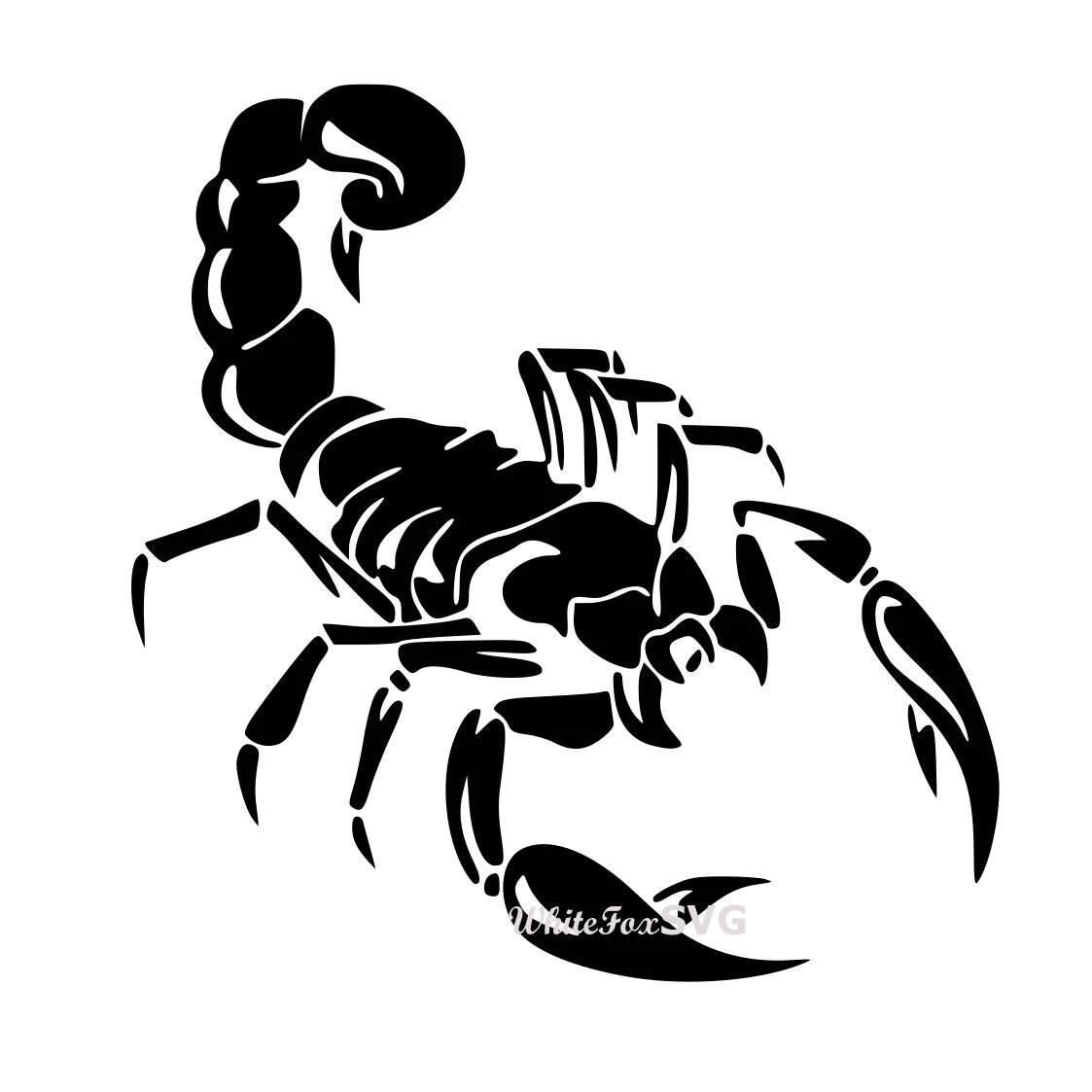 Scorpion Clipart Stencil Decal Sticker Template Transfer