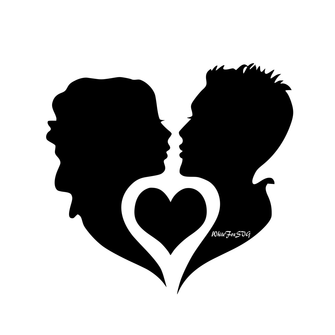 Download Couple svg cute lovers couple heart love heart kiss svg   Etsy