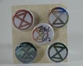 Extinction Rebellion badges - set of 5 badges