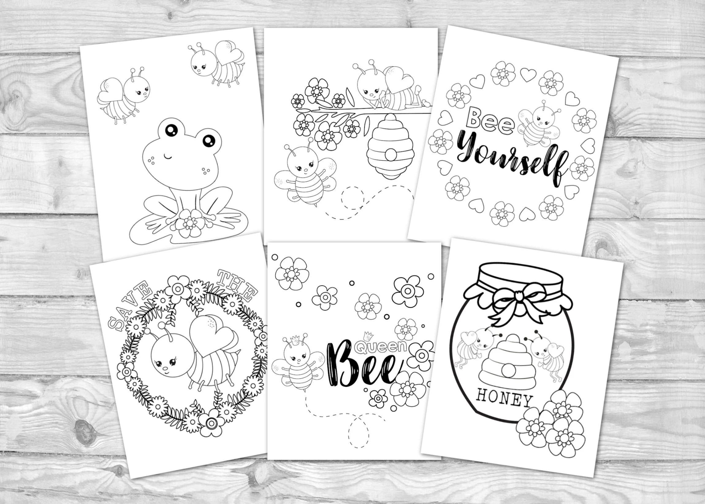 Printable Bumble Bee Coloring For Kids Cute Buzzy Bee