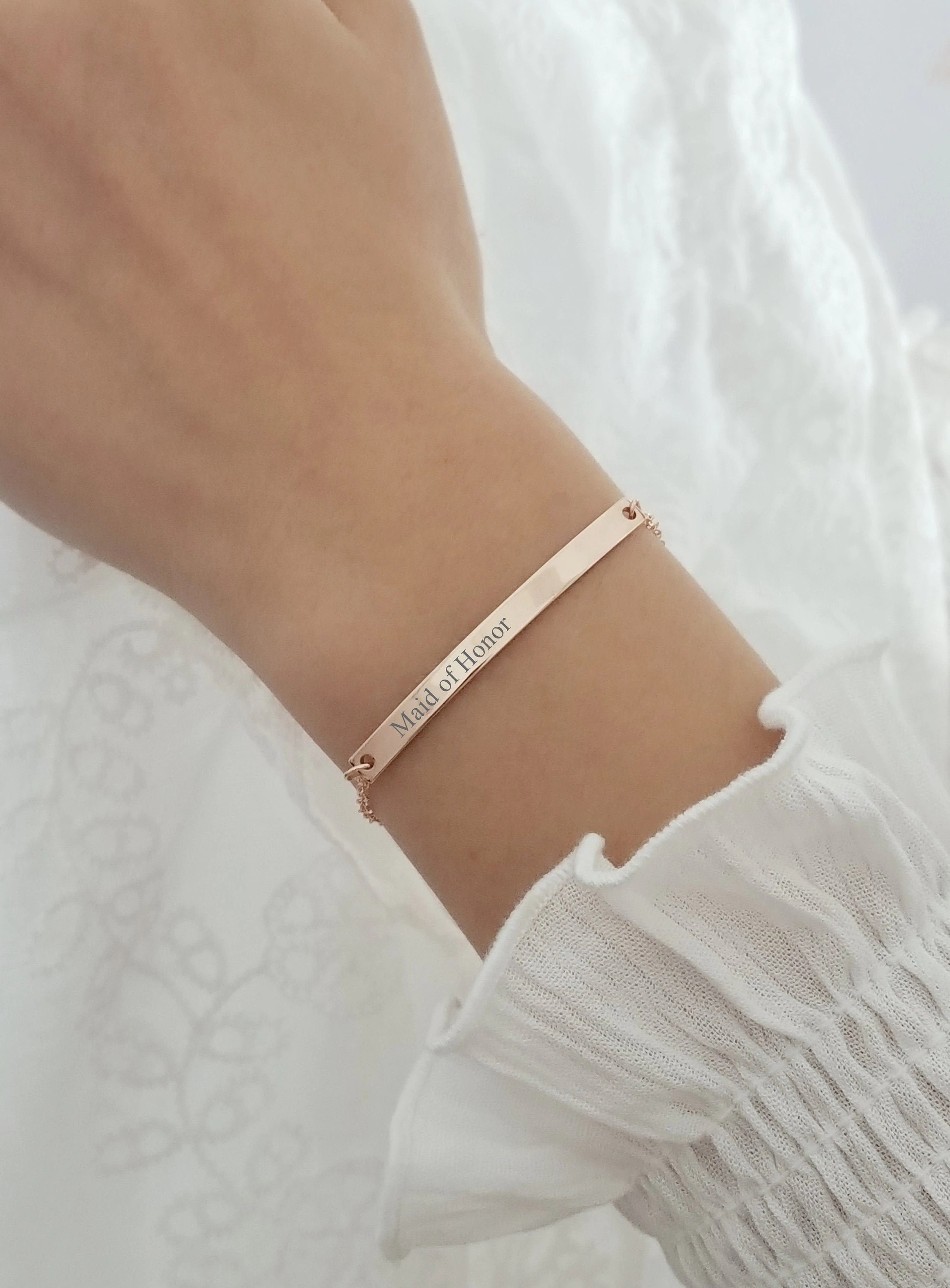 Maid of Honor Sister Bracelet Maid of Honor Gift Maid of image 1