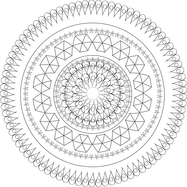 geometric coloring page # 77