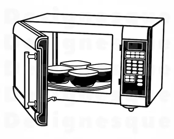 microwave 5 svg microwave svg kitchen oven microwave clipart microwave files for cricut cut files for silhouette dxf png vector