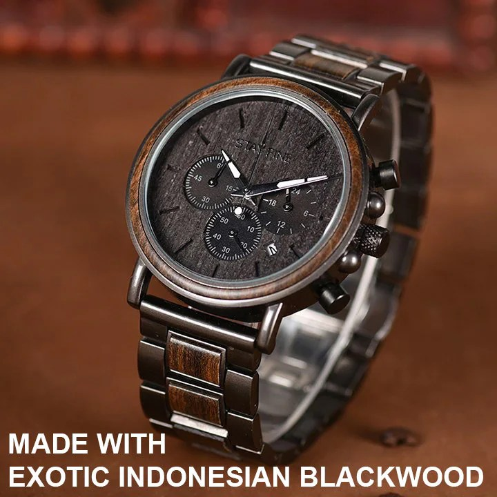 Fathers Day Gift for DadMens WatchWood WatchWooden image 2