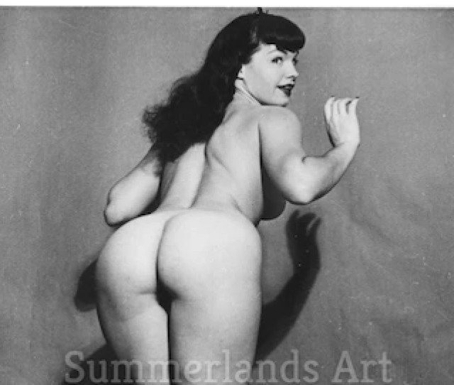 Bettie Page Nude Etsy