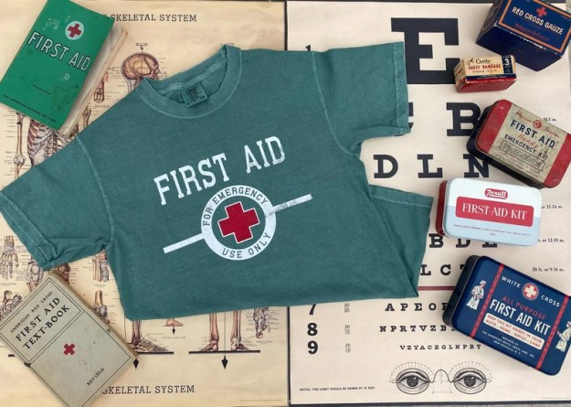 FIRST AID For Emergency Use Only Short Sleeve Tee image 0