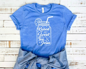 Raised on Sweet Tea and Jesus T-Shirt, Mom Life, Mom Style, Raised On Sweet Tea,  Sweet Tea and Jesus, Sweet Tea Shirt,  Shirt For Women,
