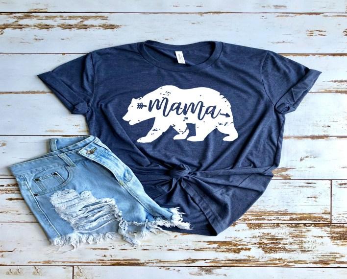 Mama Bear T-Shirt for Women | Mama Bear Shirt | Mom Life | Mom Life T-Shirt | Best Shirts For Moms | Mama Bear T-Shirt | Mama Bear