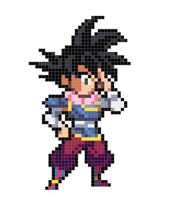 Jiren Dragon Ball Perler Beads Pixelart Vorlagen