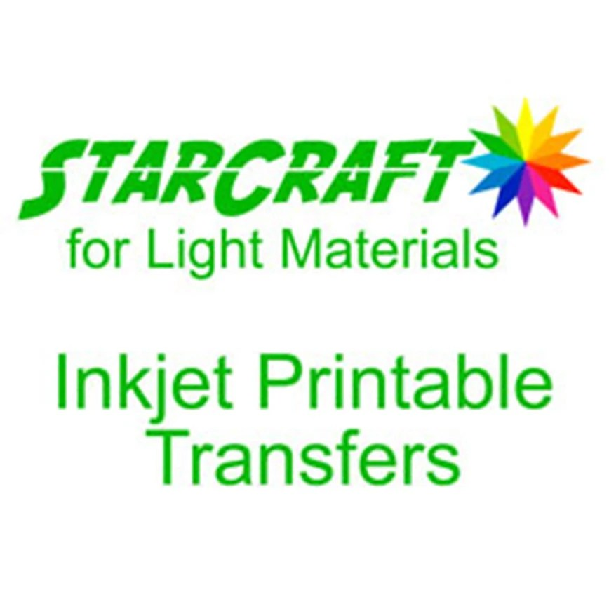 Starcraft Inkjet Printable Heat Transfers For Light Materials Sheets Ink Jet Print And Cut Htv Silhouette And Cricut Compatible