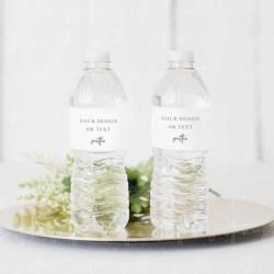 Styled Stock Photography Water Bottle Label Mockup Wedding Etsy