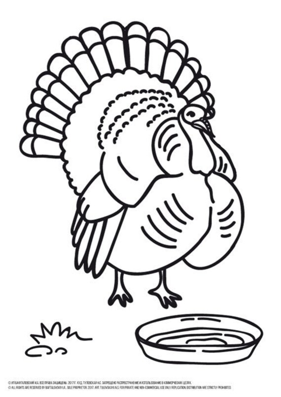 coloring page turkey # 61
