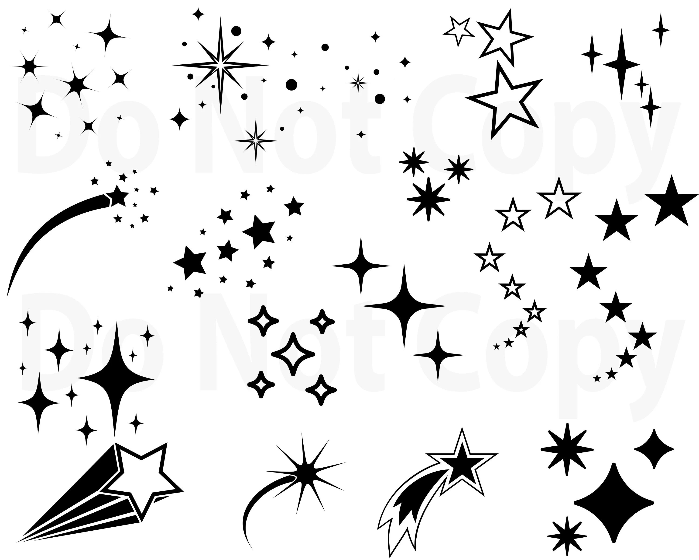 Stars Svg Bundle Star Vector Shooting Stars Svg File For