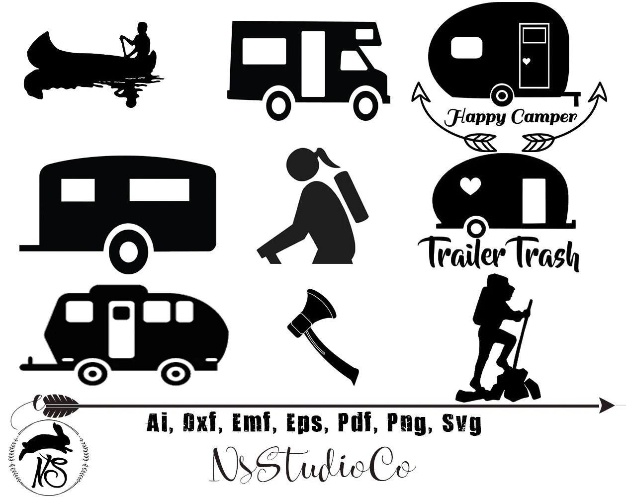 Camping Svg For Cricut Silhouette Camping Silhouette