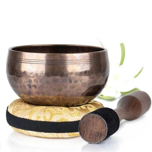 Silent Mind Meditation bowl Tibetan Singing Bowl Set Beaten image 0