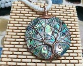 Abalone Tree of Life Necklace | White Coral | Mother of Pearl | Handmade | Gifts For Her | Keepsake | Mother's Day | Love | Boho