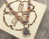 Sterling Silver Candy Necklace | Multi Color | Handmade | Long Necklace | Gifts For Her | Rastafarian | Festival Jewelry | Boho | LGBTQ