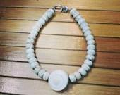 White Seashell Bracelet | Howlite | Handmade | Gifts For Her | California Boho | Birthday | Mothers Day | Wedding | Baby | Love | Friendship